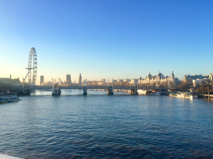 The old commute to work, Waterloo Bridge